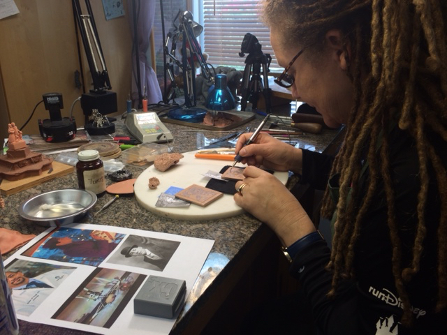 Disney Imagineer Terri Hardin Jackson sculpting the STARLINGwatch.com box